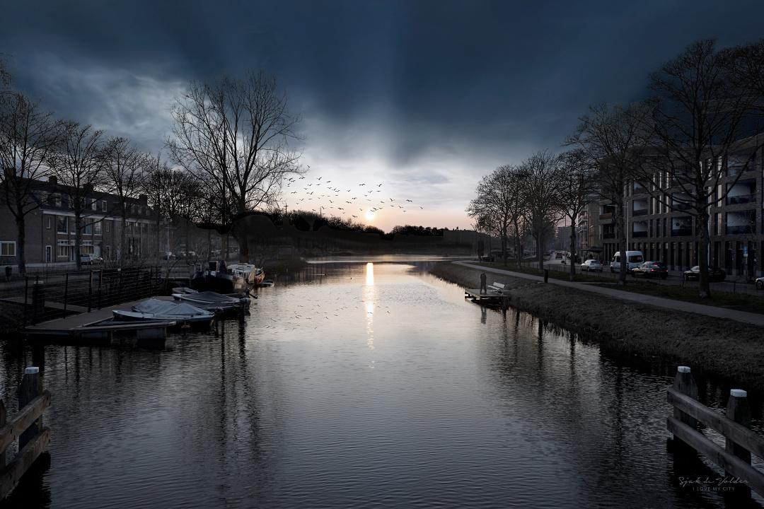 Piushaven zonsondergang