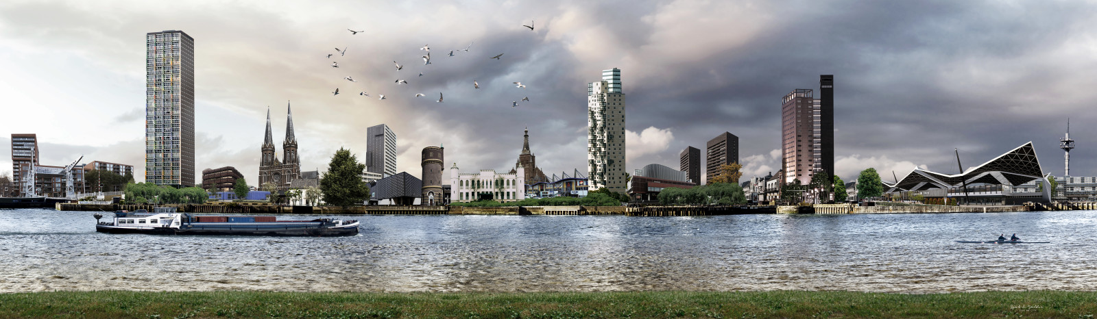 Skyline gebouwen Tilburg