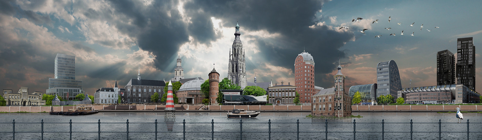 Skyline Breda Kleurrijk