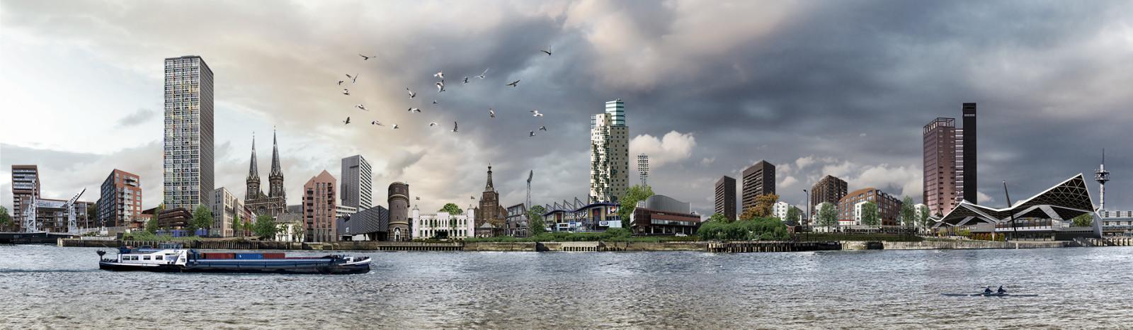 skyline Tilburg Spoorzone futuristisch