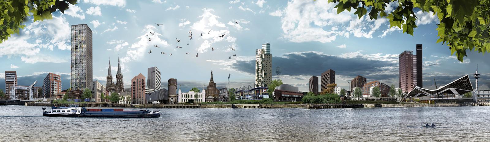 skyline Tilburg Spoorzone kleurrijk