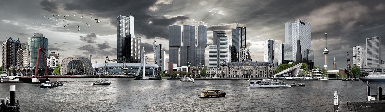 Skyline Rotterdam Urban