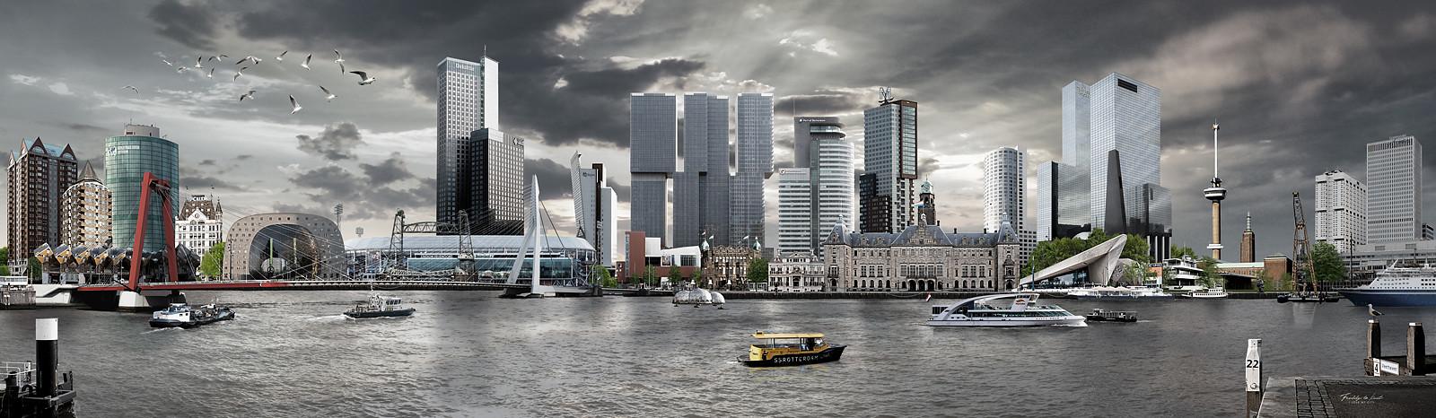 Skyline Rotterdam Realistisch