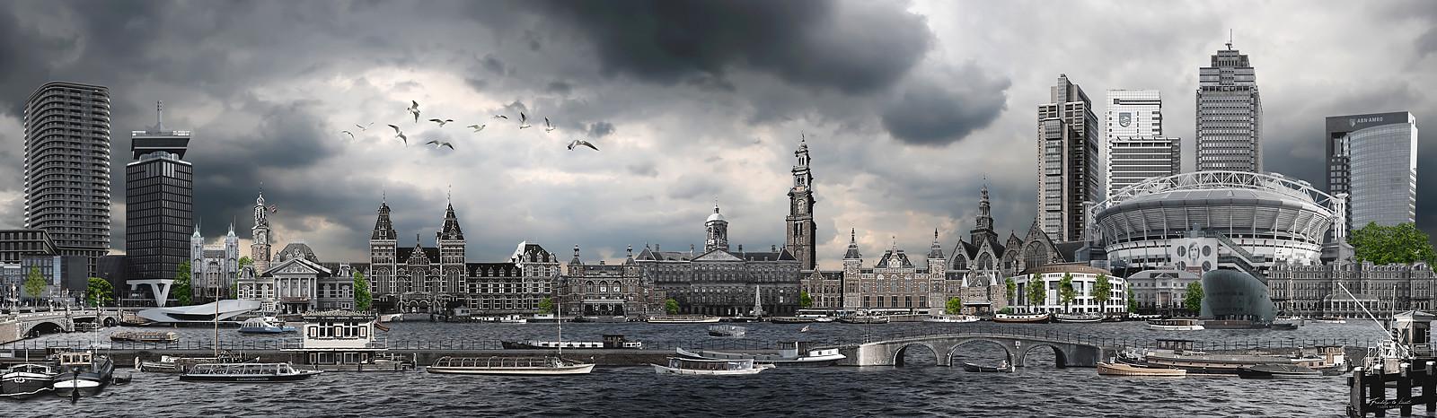Skyline Amsterdam urban