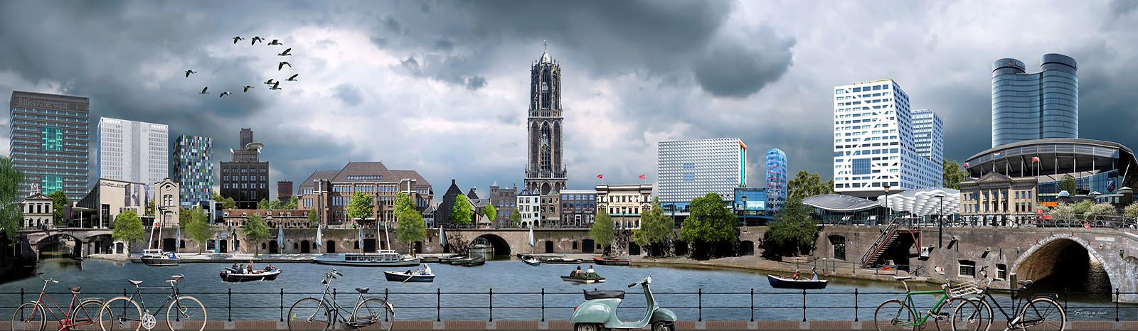 Skyline Utrecht kleurrijk
