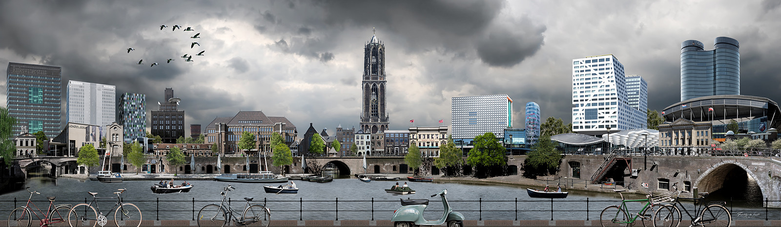 Skyline Utrecht realistisch