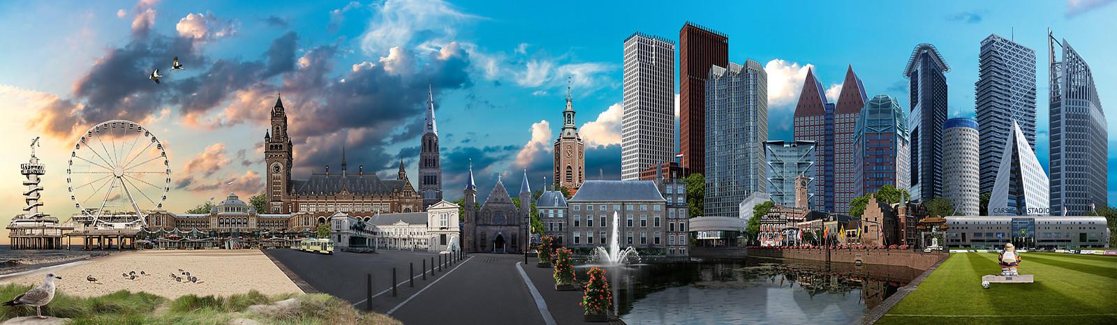 Skyline Den Haag Kleurrijk versie1