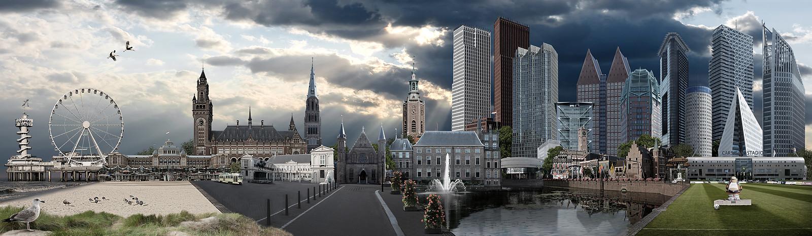 Skyline Den Haag realistisch versie 1