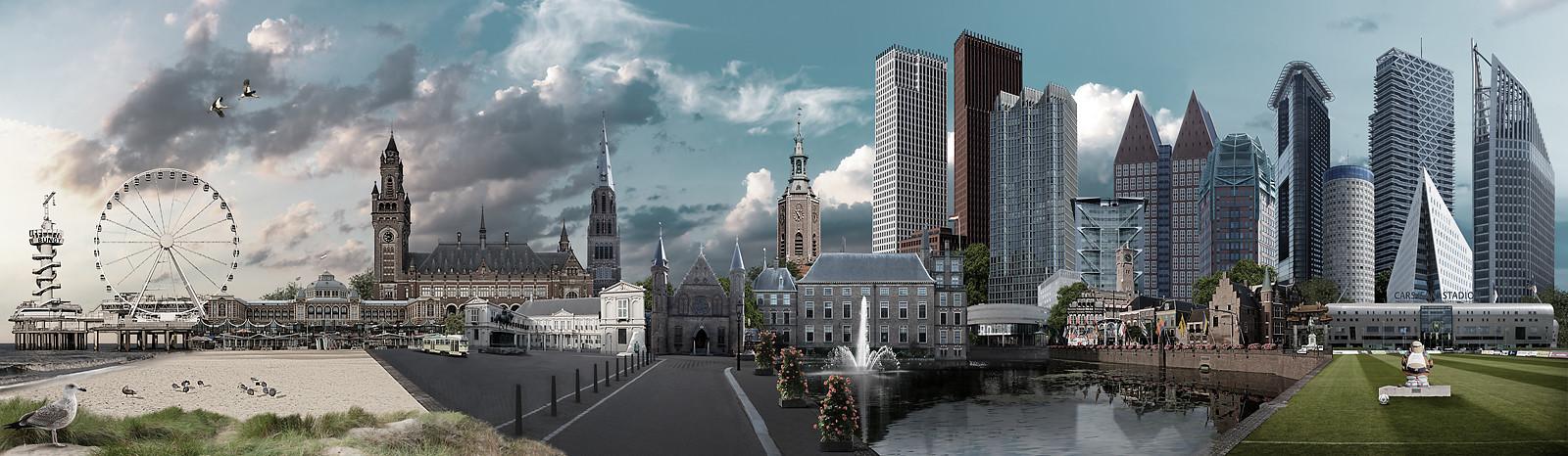 Skyline Den Haag realistisch versie 2